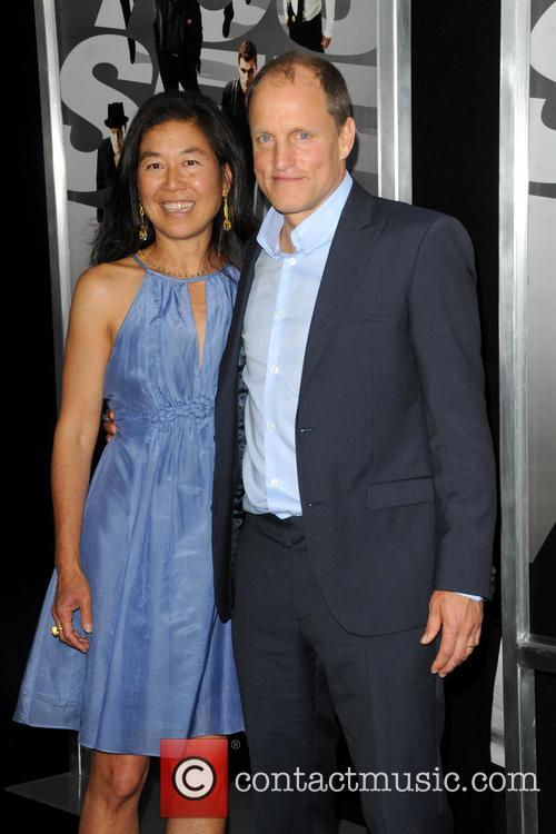 Woody Harrelson and Laura Louie