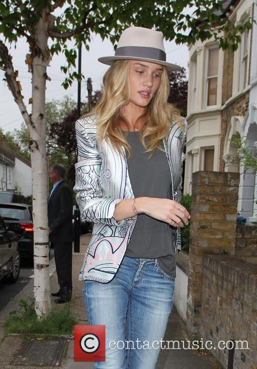 Rosie Huntingdon-Whiteley visits a friends house in South...