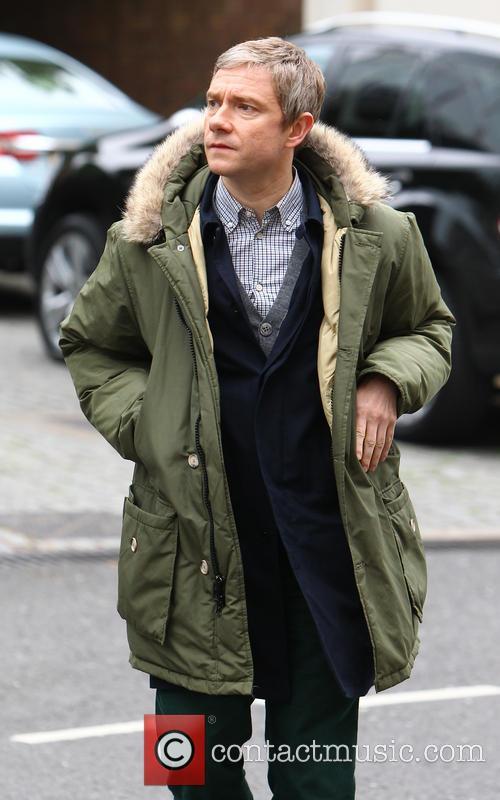 Martin Freeman, Sherlock Filming