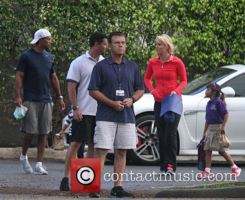 Tiger Woods, Lindsey Vonn, Sam Woods and Charlie Woods 3