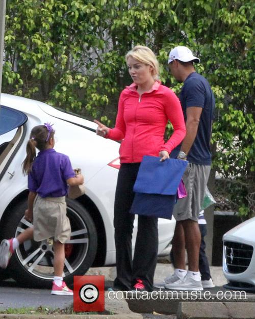 Tiger Woods, Lindsey Vonn, Sam Woods and Charlie Woods 4