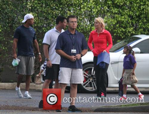 Tiger Woods, Lindsey Vonn, Sam Woods and Charlie Woods 6