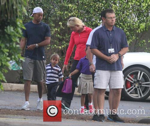 Tiger Woods, Lindsey Vonn, Sam Woods and Charlie Woods 9