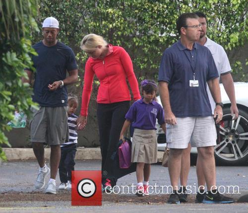 Tiger Woods, Lindsey Vonn, Sam Woods and Charlie Woods 12