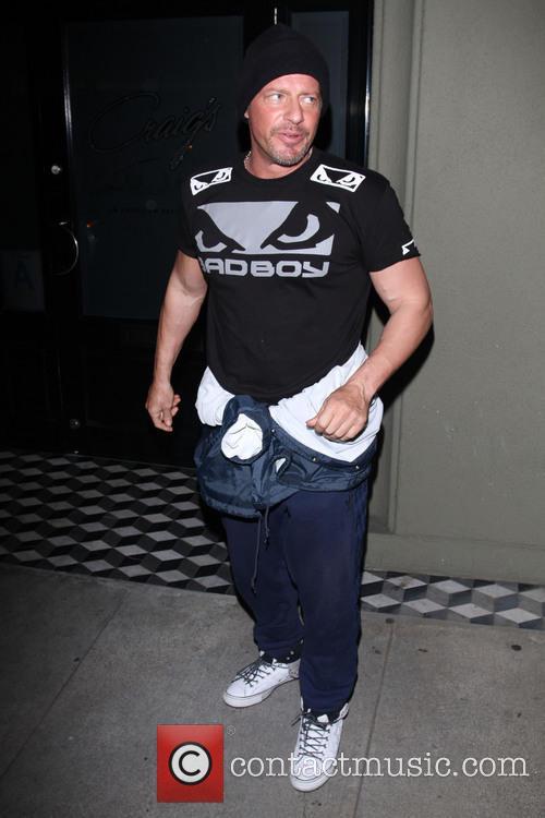 Australian actor Costas Mandylor outside Craig's Restaurant