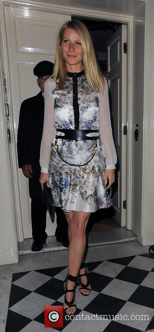 Gwyneth Paltrow and Kate Hudson leaving the Mark's Club in Mayfair
