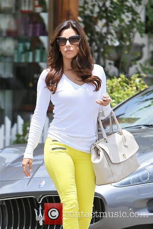 Eva Longoria is seen leaving the Ken Paves...