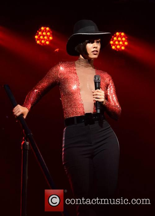 Singer Alicia Keys performs at The O2