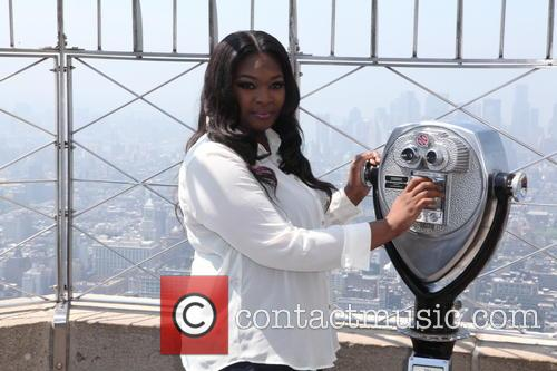 Candice Glover Visit To The Empire State Building