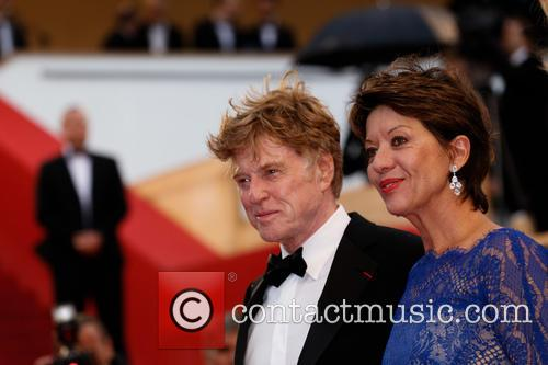 Sibylle Szaggars and Robert Redford 2