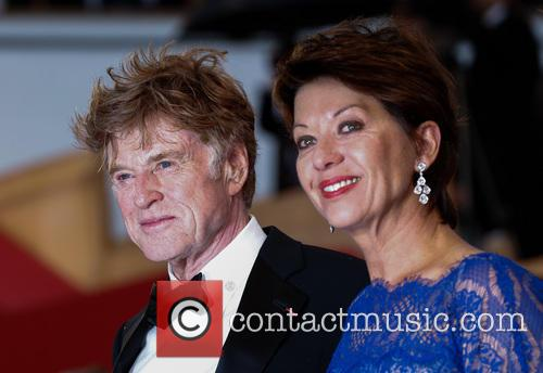 Sibylle Szaggars and Robert Redford 1