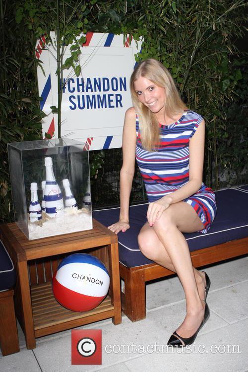 Model Dana Jones Wearing Dress By Trina Turk 2