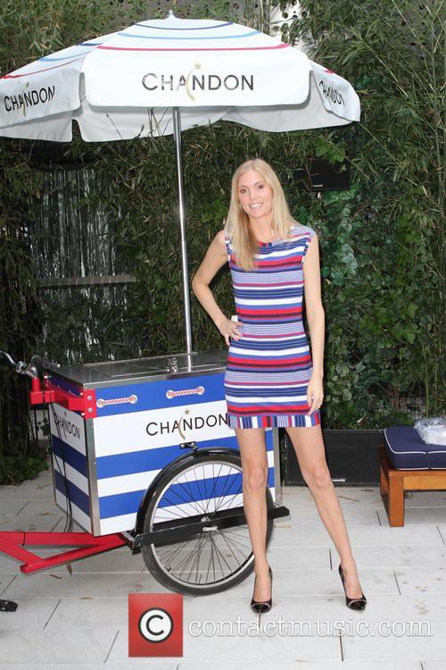 Model Dana Jones Wearing Dress By Trina Turk 3