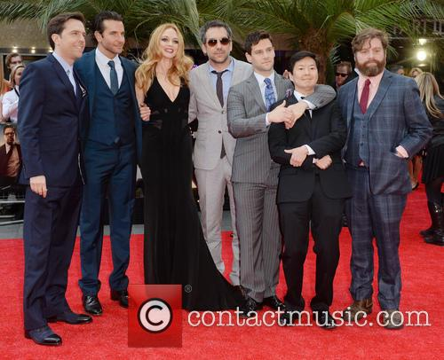 Ed Helms, Bradley Cooper, Heather Graham, Todd Phillips, Justin Bartha, Ken Jeong and Zach Galifianakis 8