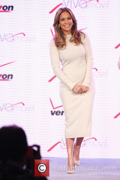 Jennifer Lopez and Marni Walden, Verizon Wireless Executive...
