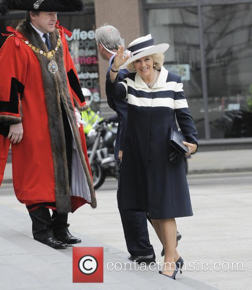 Camilla at St Paul's Cathedral