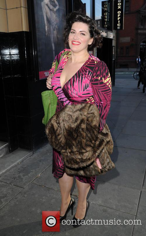 Jodie Prenger arrives at the Palace Theatre Manchester...