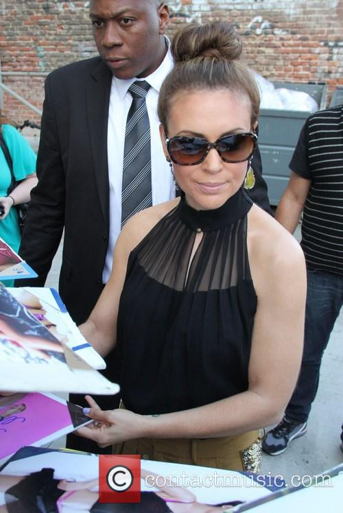 alyssa milano celebs at jimmy kimmel live 3682965
