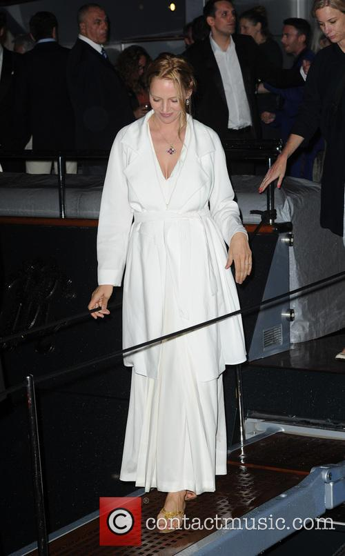 uma thurman roberto cavalli yacht party 3683121