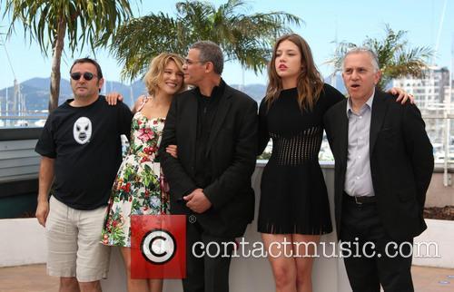 Vincent Maraval, Brahim Chioua, Abdellatif Kechiche, Lea Seydoux and Adele Exarchopoulos 1