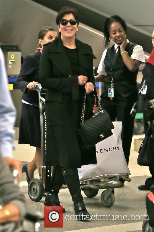 Kim Kardashian and her mother at LAX