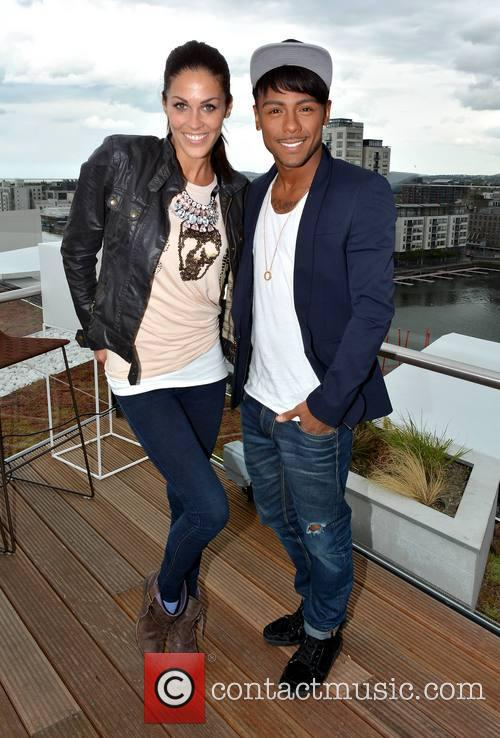 Marcus Collins and Glenda Gilson pose during a...