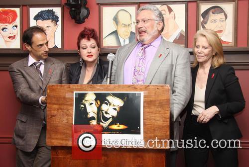 Hal Luftig, Cyndi Lauper, Harvey Fierstein and Daryl Roth 1