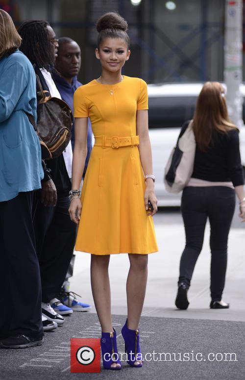 Zendaya Coleman exits hotel