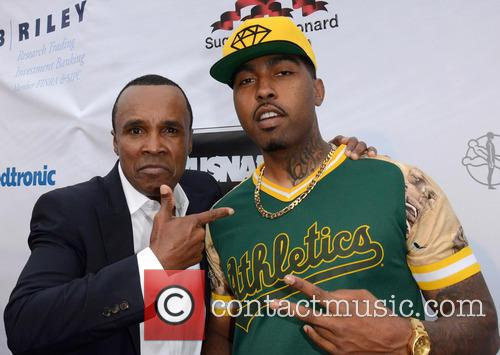 Sugar Ray Leonard and Clyde Carson 1