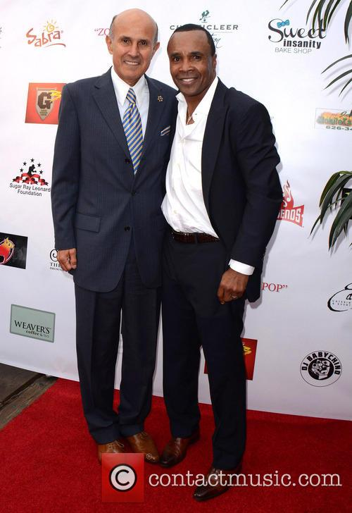 Sugar Ray Leonard and Sheriff Lee Baca 9