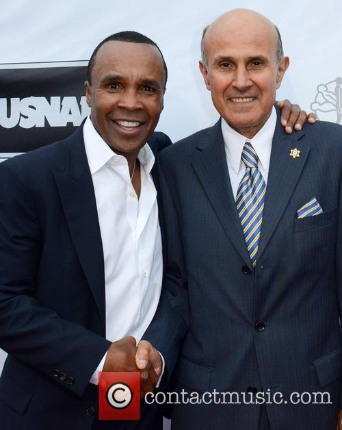 Sugar Ray Leonard and Sheriff Lee Baca 3