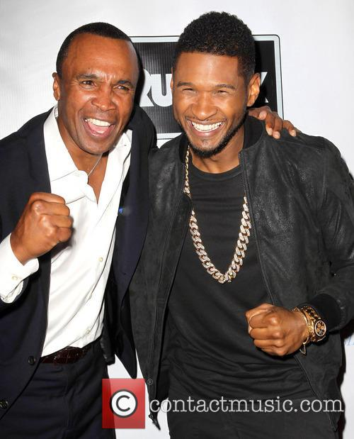 Sugar Ray Leonard and Usher 3