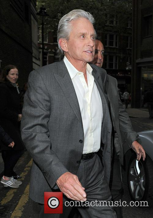 Michael Douglas In Covent Garden