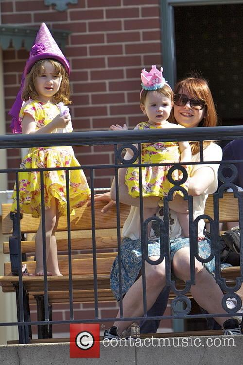 Alyson Hannigan - Alyson Hannigan and family at Disneyland ...