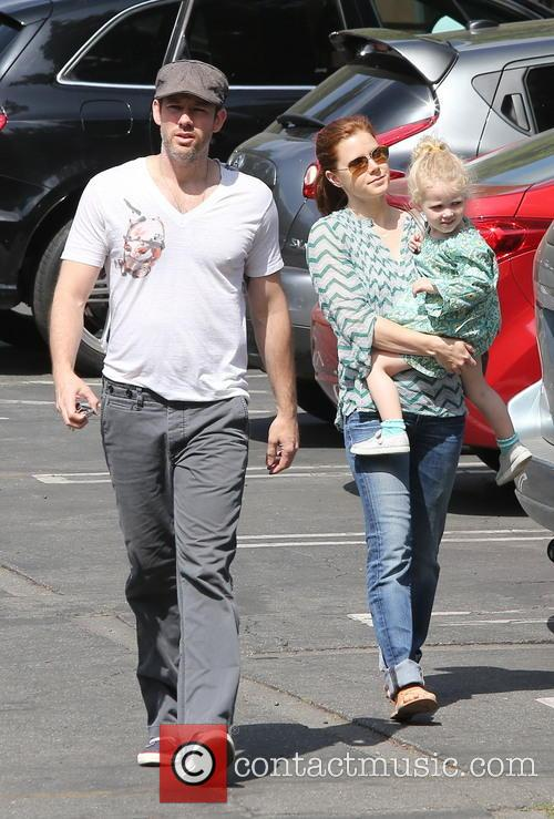 Amy Adams out and about with her family