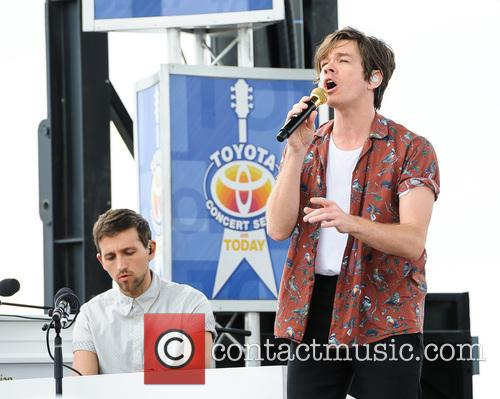 Nate Ruess and Andrew Dost of Fun. 2