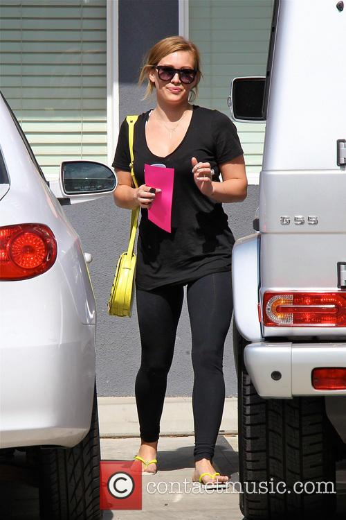 Hilary Duff seen leaving her pilates class