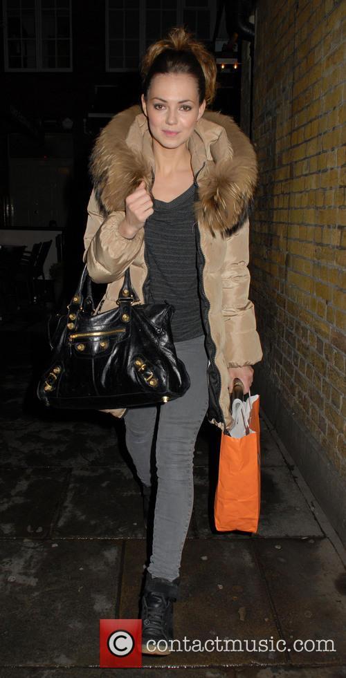 Kara Tointon seen leaving the Wyndham's Theatre