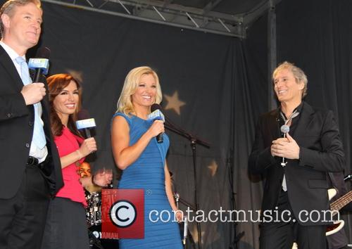 Steve Doocy, Maria Molina, Gretchen Carlson, Michael Bolton, avenue of the Americas