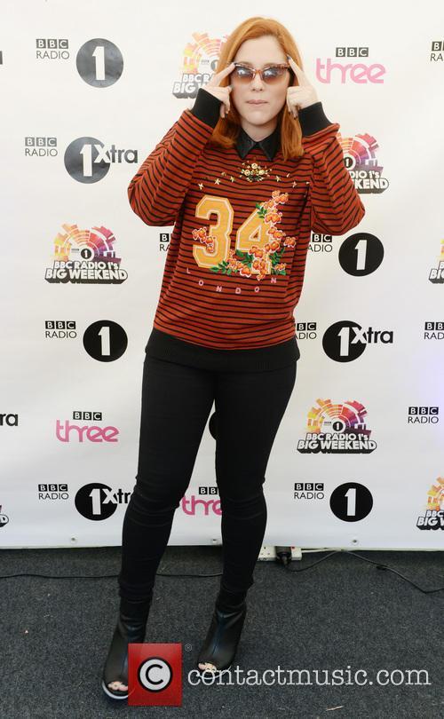 Katy B backstage at BBC Radio 1's Big...