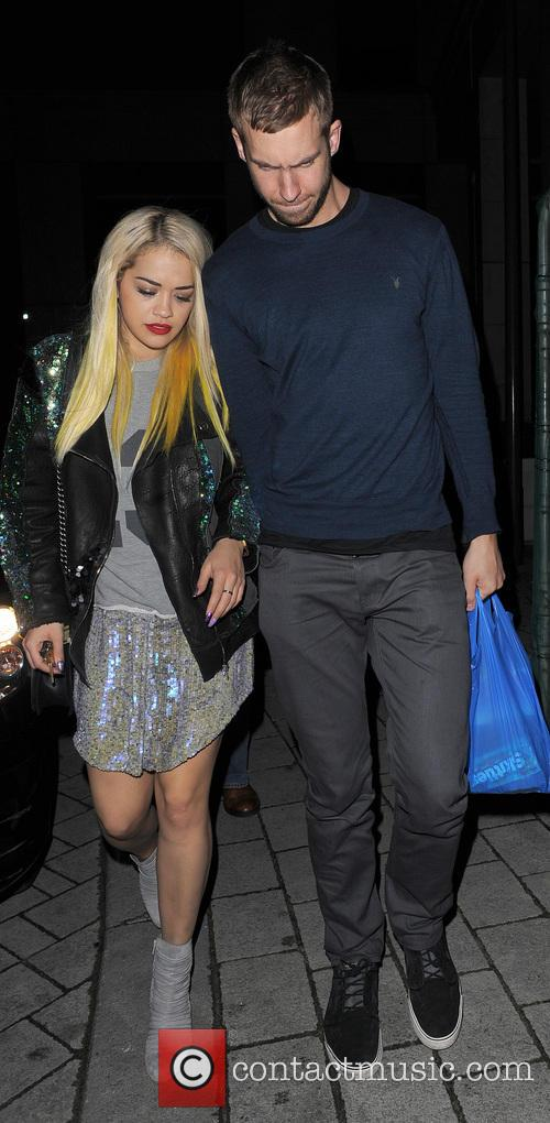 Rita Ora and Calvin Harris 11