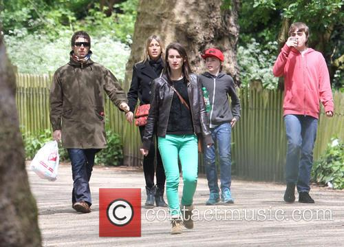 Liam Gallagher, Nicole Appleton, Gene Gallagher and Lennon Gallagher