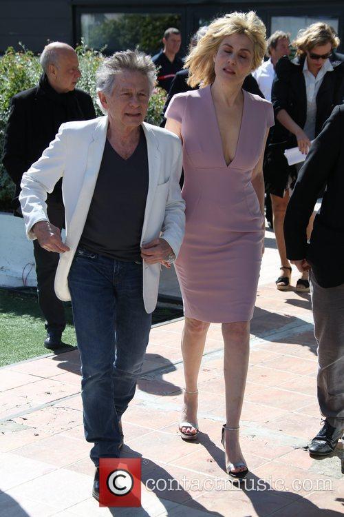 Roman Polanski, His Wife and Actress Emanuelle Seigner