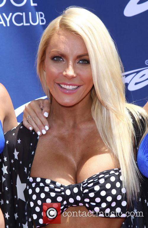 Crystal Hefner fills in at Sapphire Pool and...