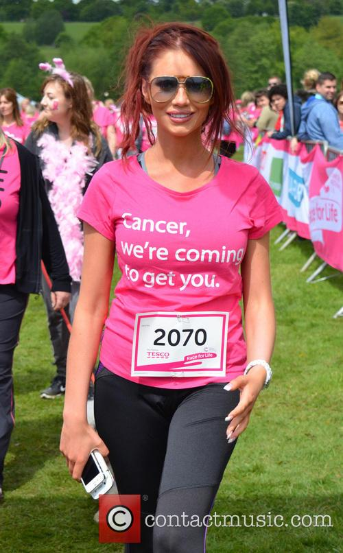 Amy Childs attends the Race for Life event