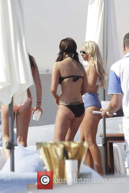 Tulisa Contostavlos partying at Ocean Club while on...