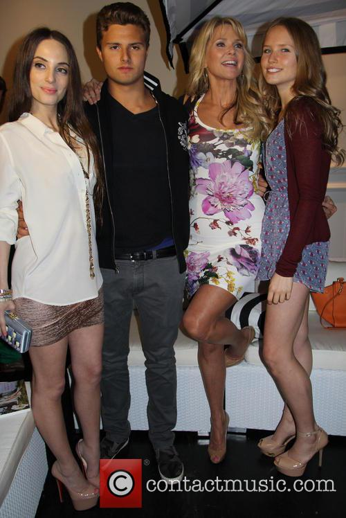 Alexa Ray Joel, Jack Cook, Christie Brinkley and Sailor Cook 2