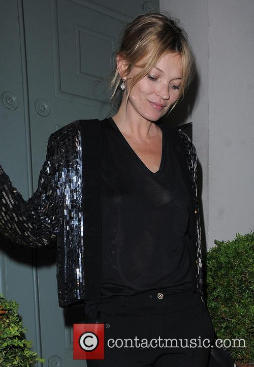 Kate Moss leaving a private residence in Chelsea...