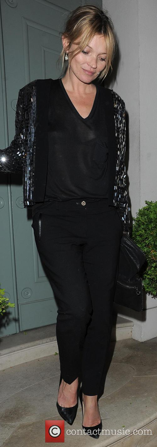 Kate Moss leaving a private residence in Chelsea at 3:15 a.m.