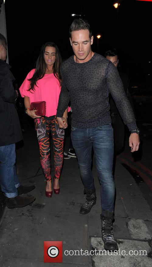 Katie Price and husband Kieran Hayler enjoy a night out at Club Aquarium in Shoreditch